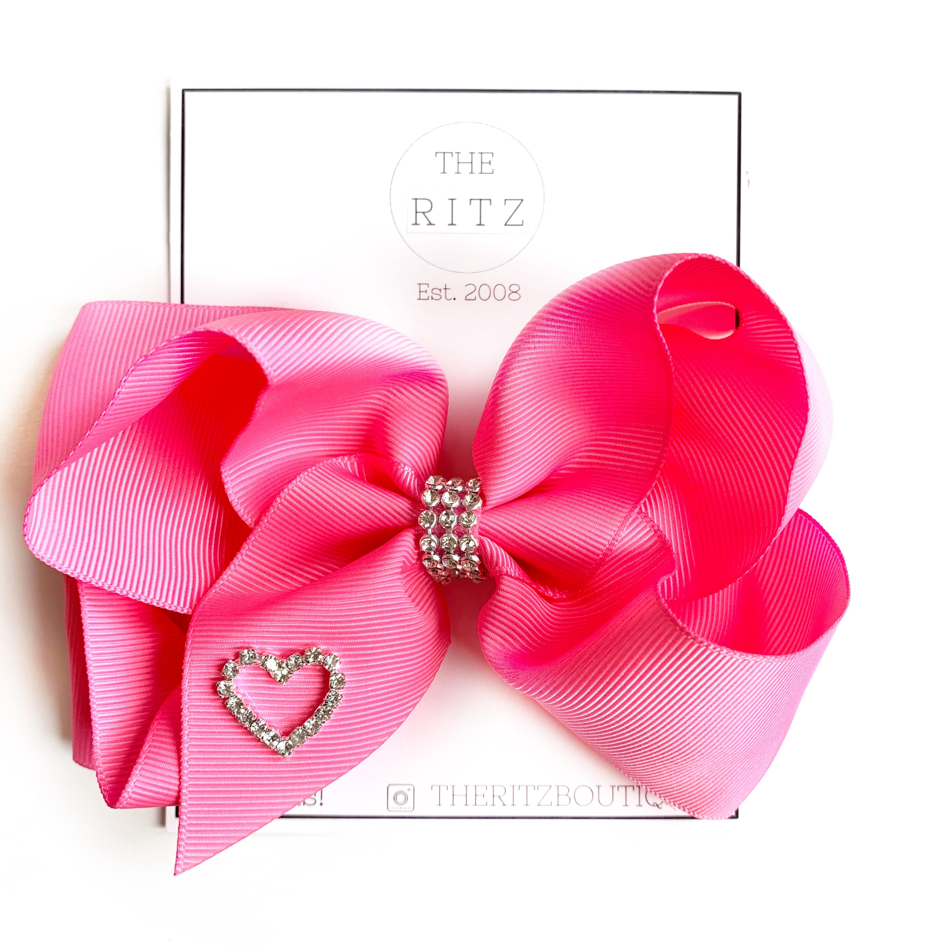 Medium Pink Biggie Jersey Bow Clip