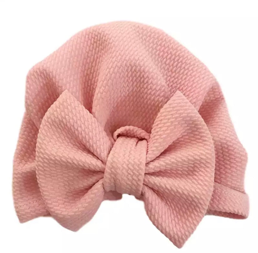 Waffle Bow Turban hat * 3 COLORS!