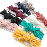 Ribbed Bow Nylon Headband