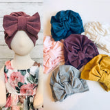 Warm Double Layer Bow Turban Hat * 6 COLORS!
