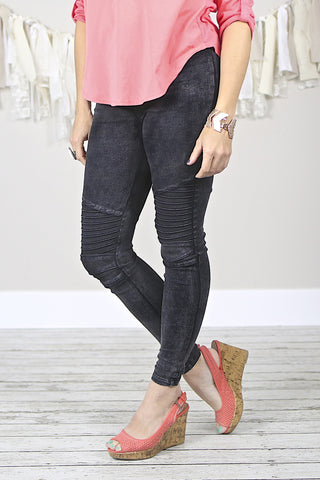 Mommy and me Denim Moto Jeggings
