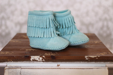 Aqua 2 Tier Velcro Back Moccasin Boot