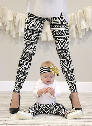 Tribal Print Mommy and Me leggings