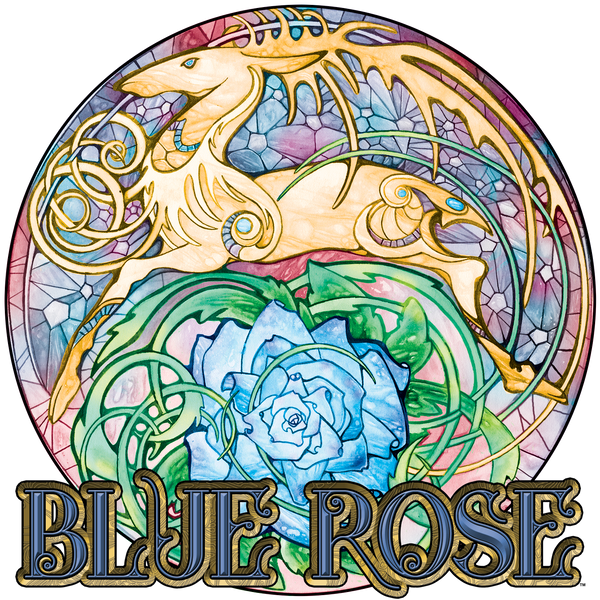 Blue Rose Hart Crest Mug