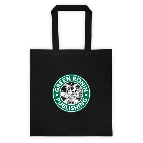 Coffee Ronin Black Cotton Canvas Tote Bag