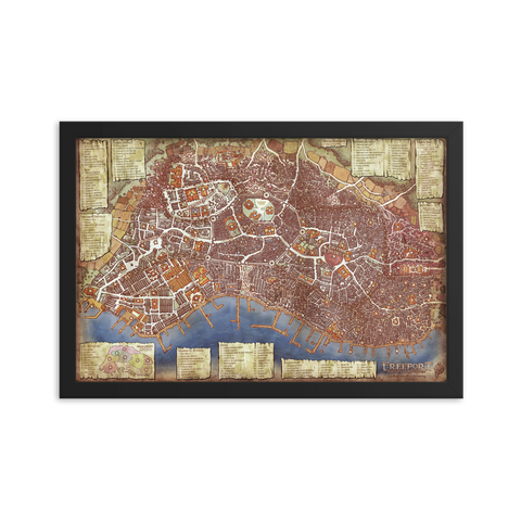 Freeport Framed Poster Map