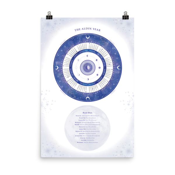 Aldin Calendar Poster, Rolled (Two Sizes)