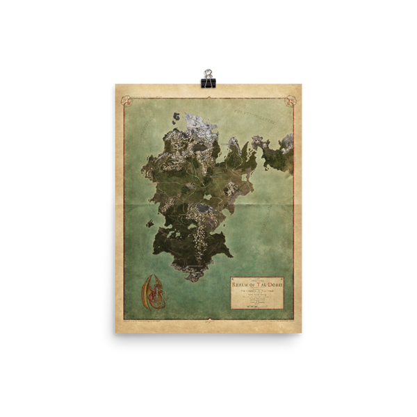 Realm of Tal'Dorei Rolled Poster Map, Parchment Background