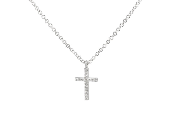 Mia Cross Pendant White Gold