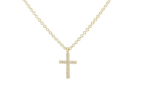 Mia Cross Pendant Yellow Gold