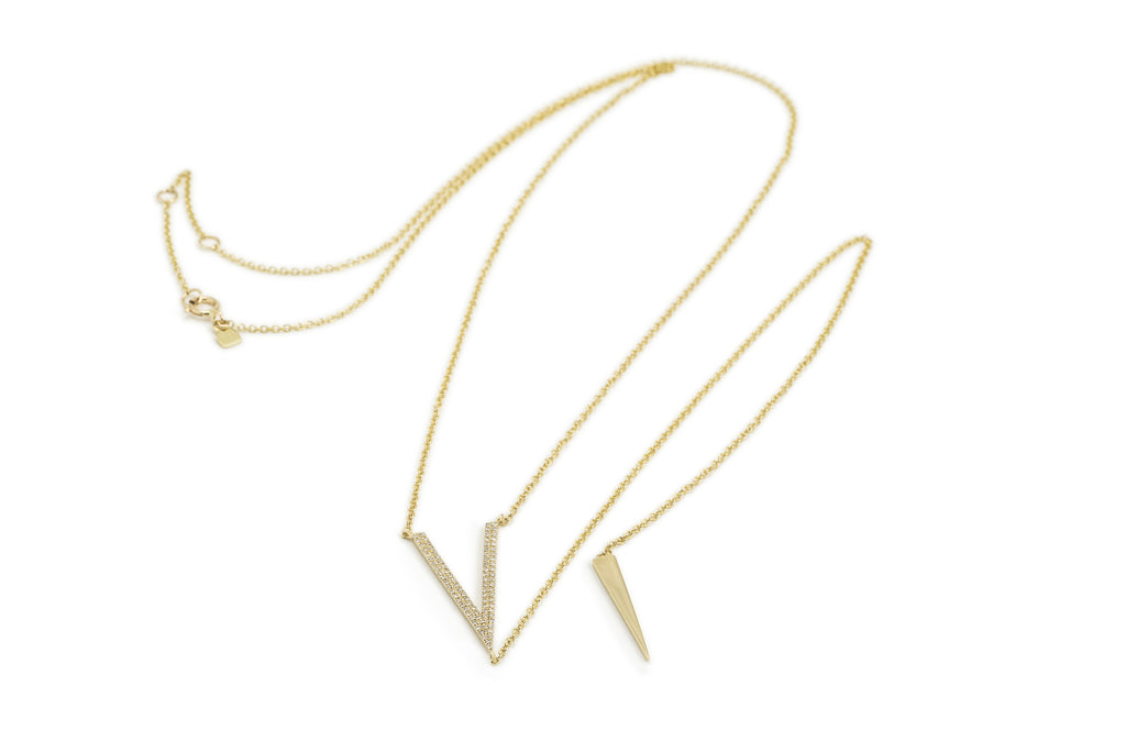 Mamie Diamond Lariat Necklace
