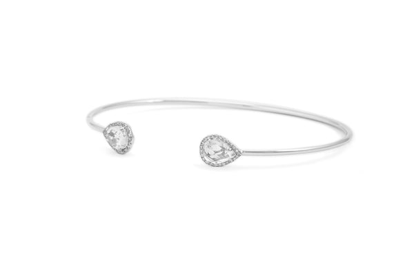 Chloe White Topaz Cuff Bangle