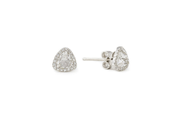 Ashley White Topaz Studs