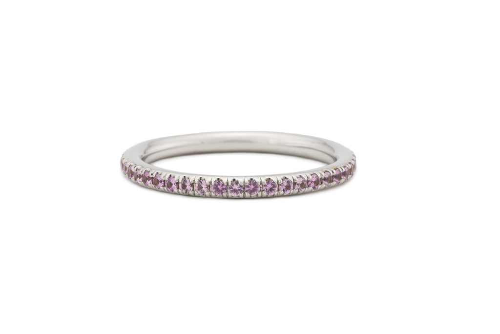 Pink Sapphire Eternity Stacking Band