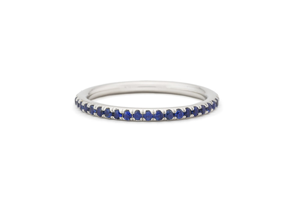 Blue Sapphire Eternity Stacking Band