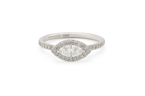 East West Marquis Diamond Engagement Ring