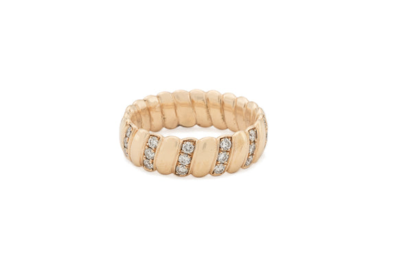 Rose Gold & Diamond Band