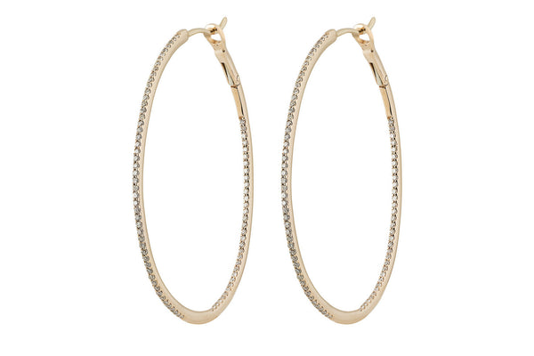 Laura Diamond Oval Hoops