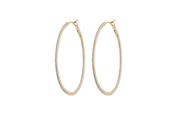 Francesca Diamond Oval Hoops