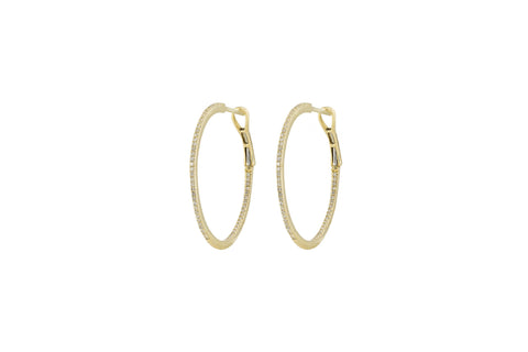 Greta Diamond Round Hoops