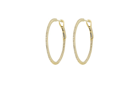 Ava Diamond Round Hoops