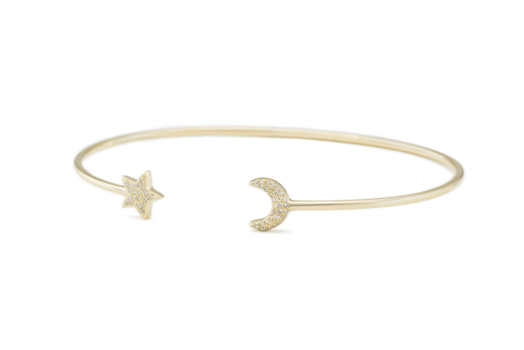 Moon & Star Bangle