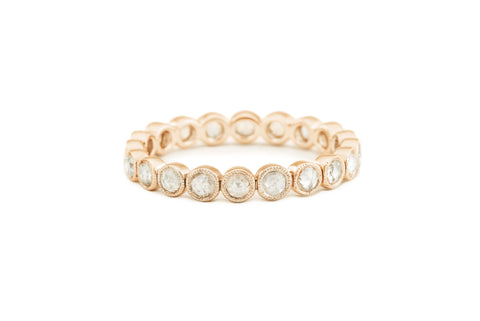 Paula Rose Cut Diamond Eternity Band
