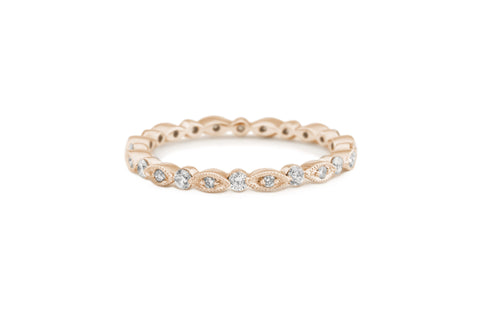 Charites Diamond Eternity Band Rose Gold