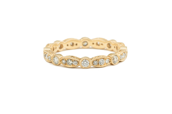 Antique Style Diamond Eternity Band