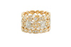 Victorian Style Rose & White Diamond Eternity Band