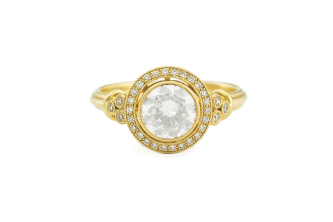 Antique Halo Style Semi-mount Ring