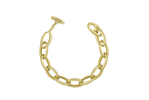 Crown Work Link Bracelet by Ray Griffiths
