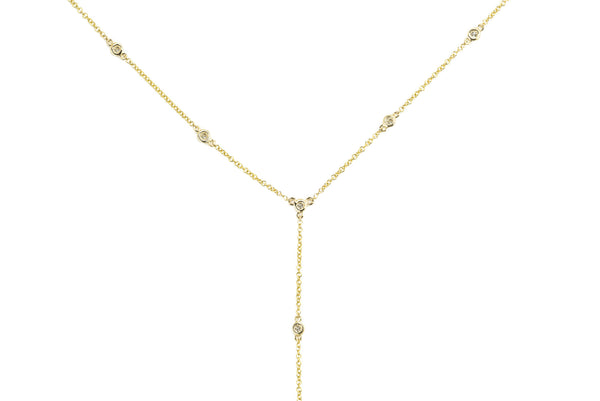 Daria Diamond Lariat Necklace