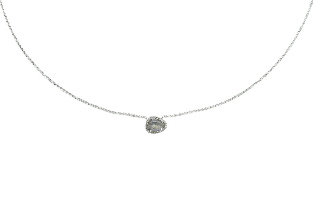 Laddie Labradorite & Diamond Necklace