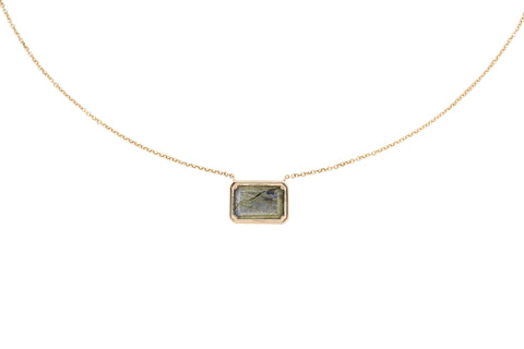 Aubrey Labradorite & Diamond Necklace