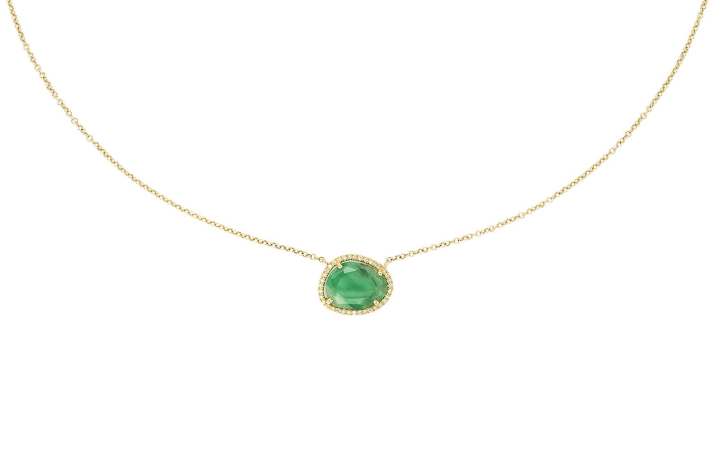 Anwen Emerald & Diamond Necklace