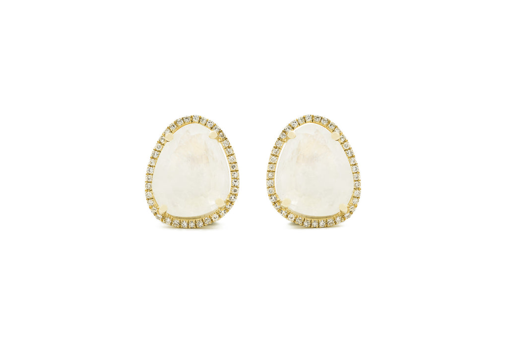 Gwenie Moonstone Stud Earrings