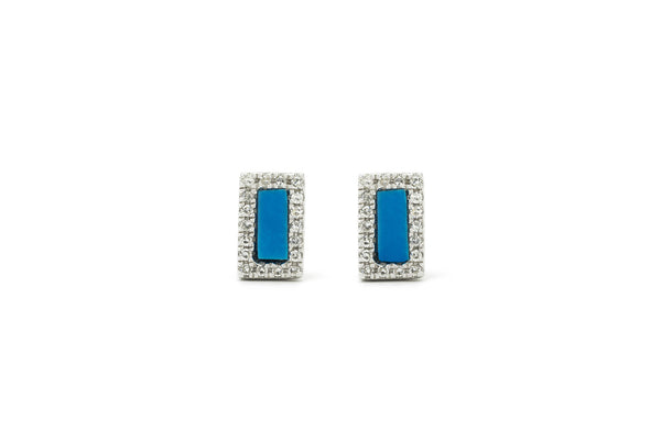 Joey Turquiose Mini Stud Earrings