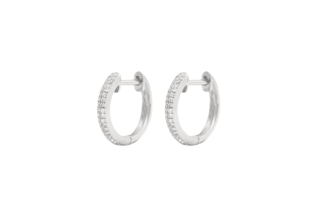 Liza Diamond Huggie Earrings