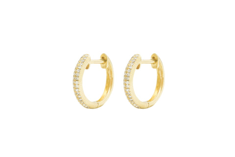Liza Diamond 3 Row Huggie Earring Yellow