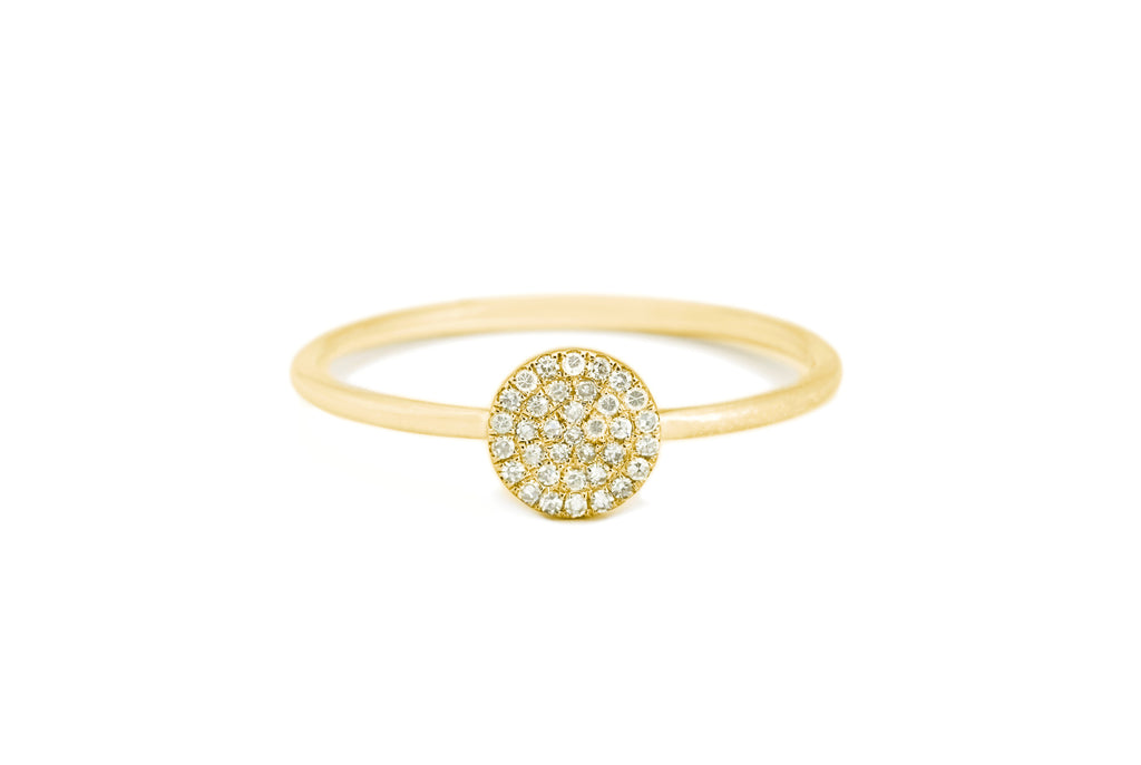 Sweetie Disc Diamond Ring Yellow Gold