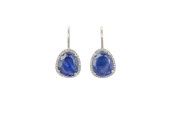Gwen Blue Sapphire & Diamond Earrings
