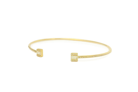 Giana Diamond Baguette Cuff Bangle
