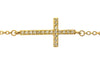 Sideways Cross Bracelet Yellow Gold