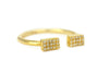 Cara Diamond Open Cuff Band Yellow Gold