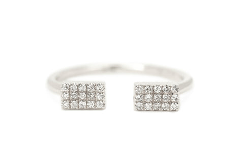 Cara Diamond Open Cuff Band White Gold
