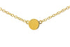 Yellow Gold Disc Chain Necklace