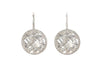White Topaz Headlight Earrings