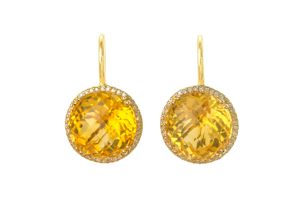 Citrine Headlight Earrings
