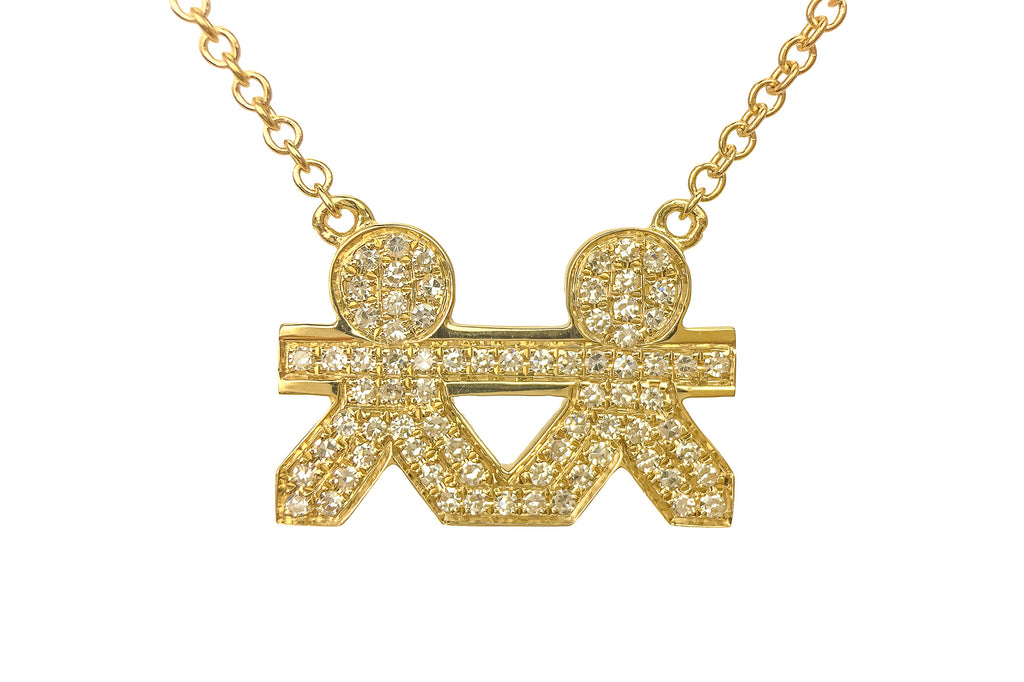 VCH Paper Doll Diamond Necklace Yellow Gold